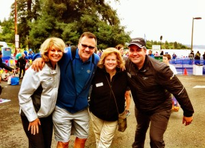 Seafair Board members volunteering at the Triathlon!