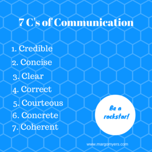 The 7 C's of Communication