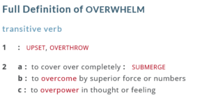 Coping with 'overwhelm'